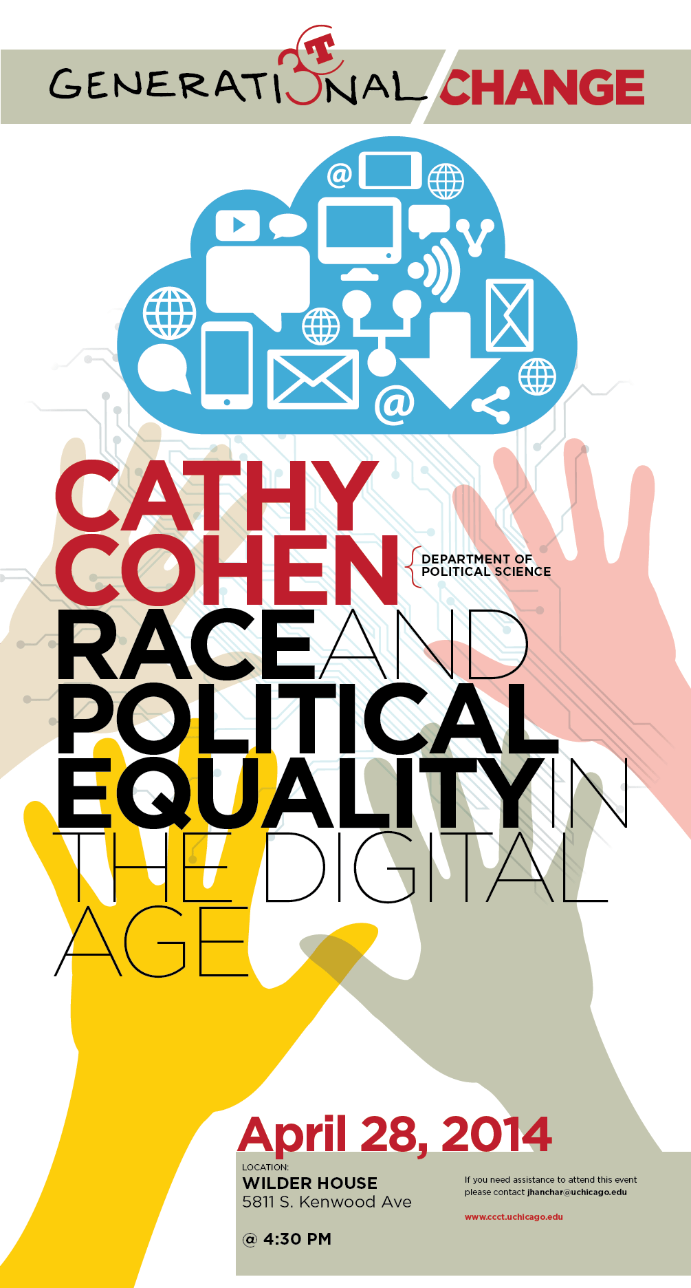 Cathy Cohen Race and Political Equality in the Digital Age event poster