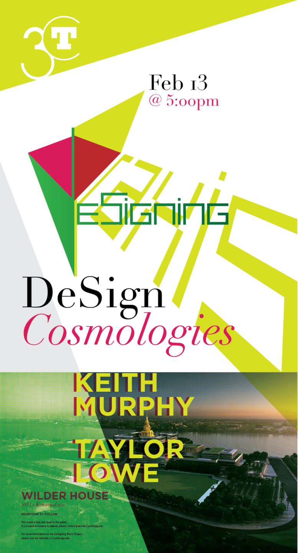 DeSign Cosmologies event poster