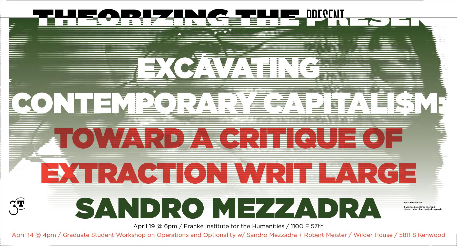 Poster for Sandro Mezzandra event