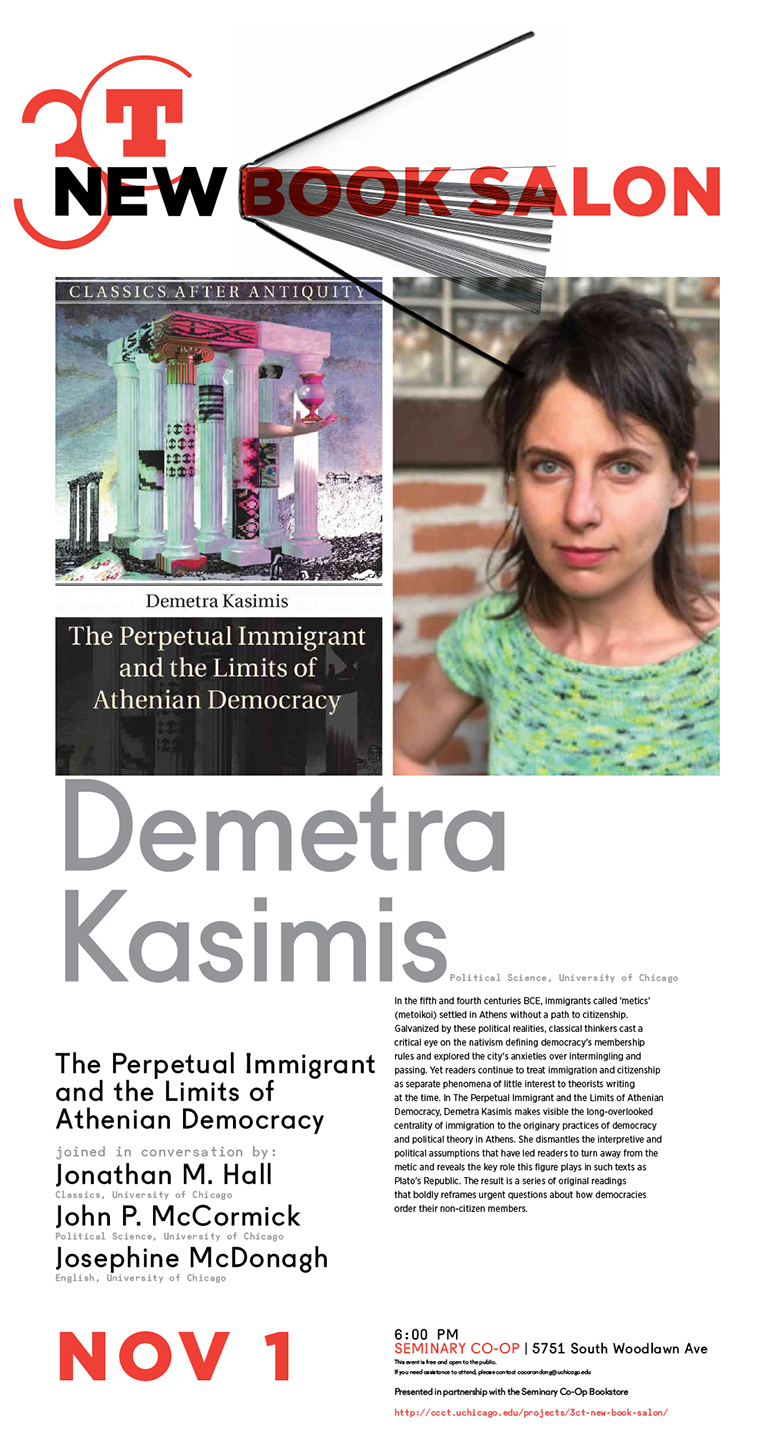 Demetra Kasimis 2019 New Book Salon poster