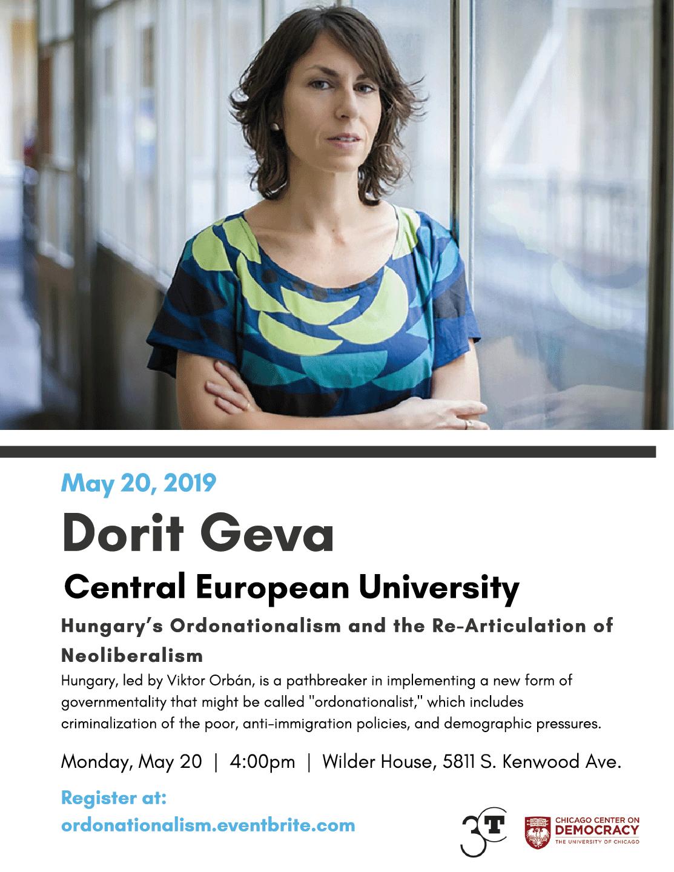 Dorit Geva event poster