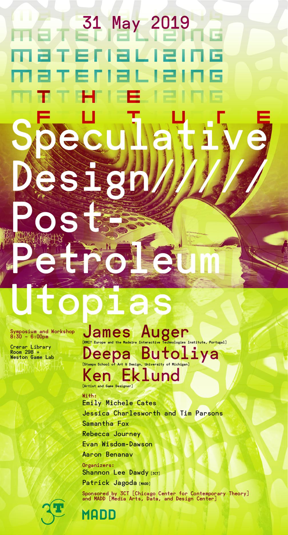 Speculative Design Poster for Post-Petroleum event