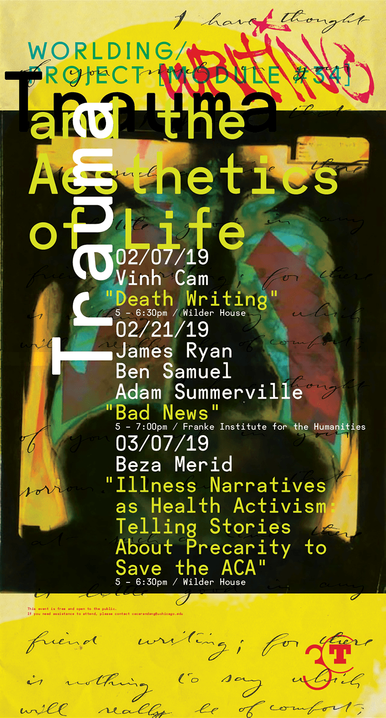 poster for Trauma and the Aesthetics of Life