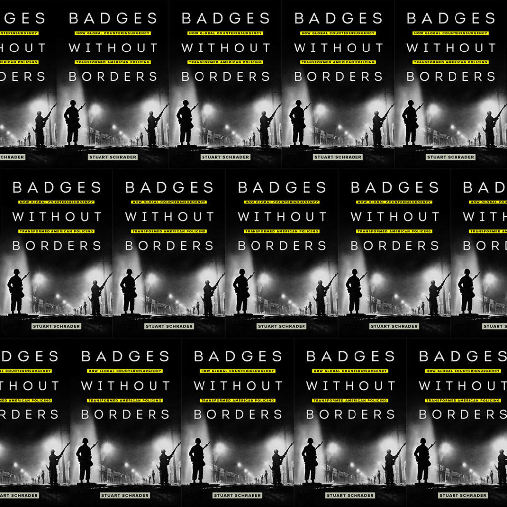 repeated image of cover of Badges without Borders
