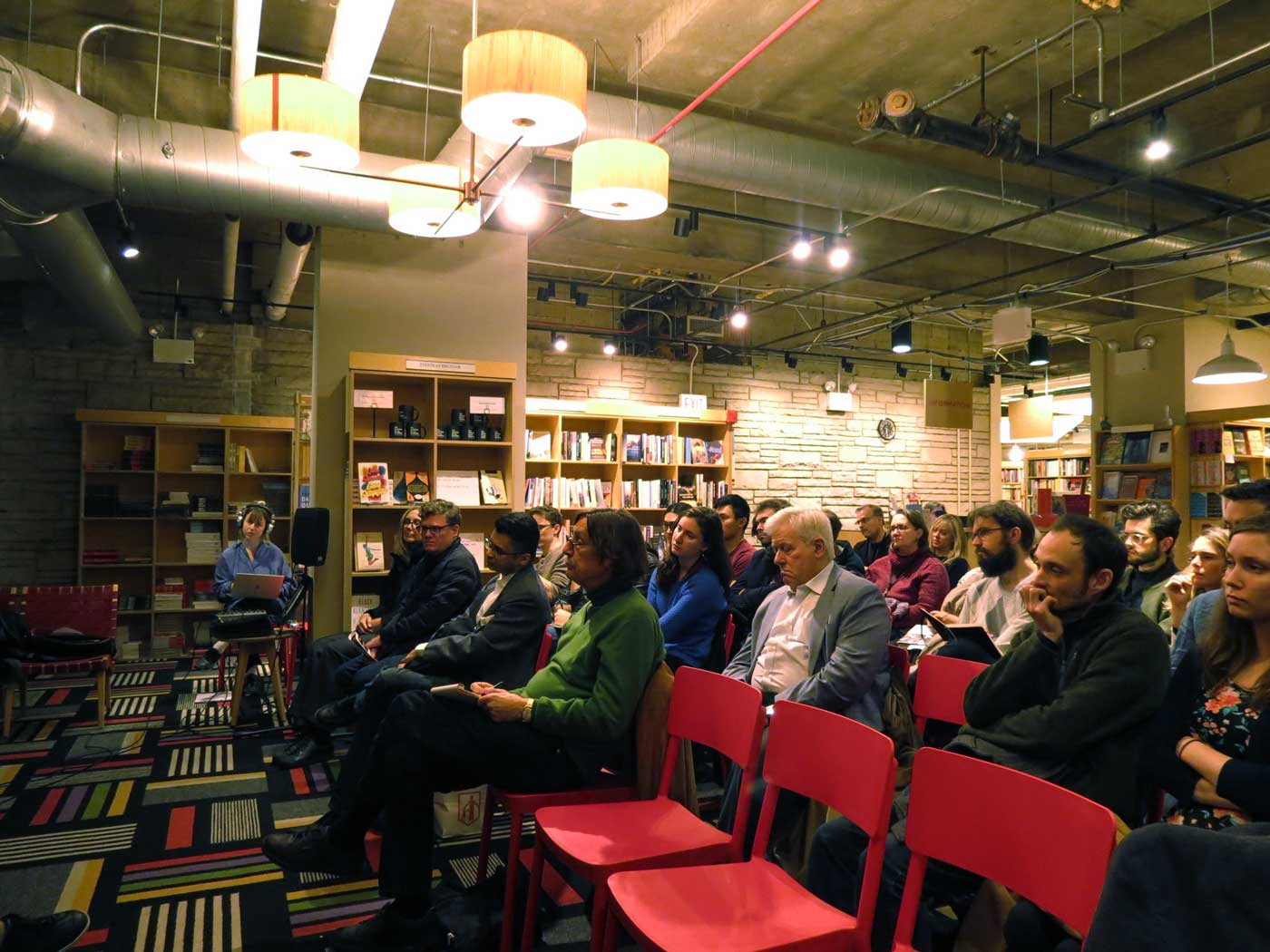 Audience listens to Michael Feher