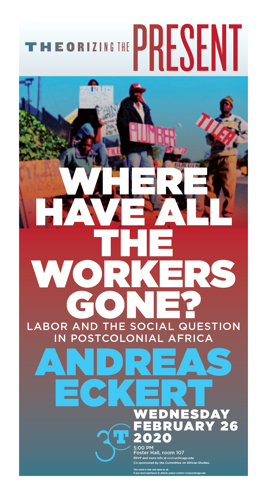 Andreas Eckert poster: Where Have All the Workers Gone?