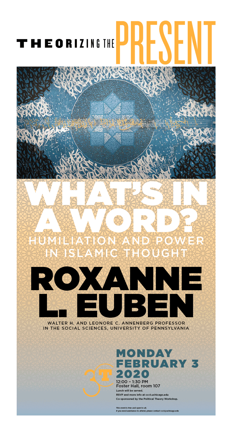 poster for Roxanne L. Euben: What's in a Word?