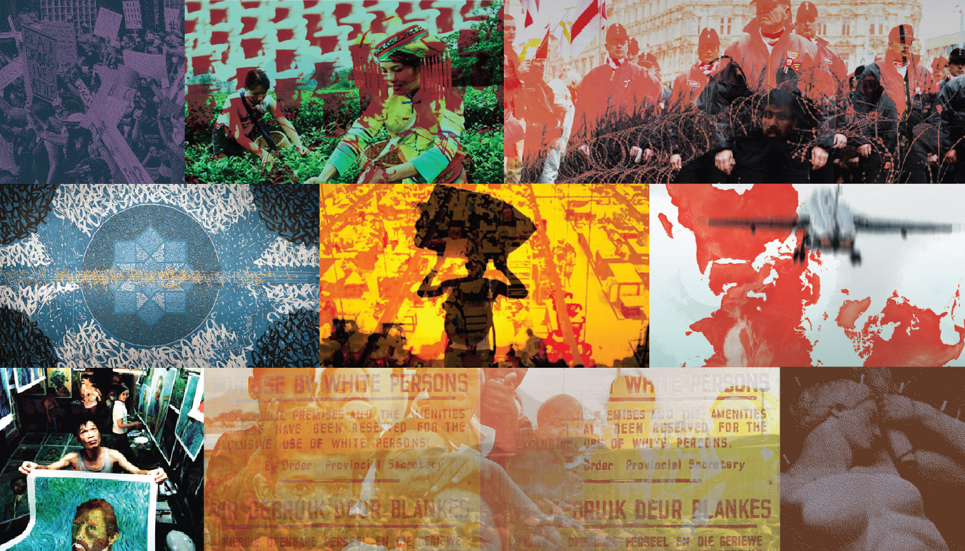 collage of graphics from Theorizing the Present posters