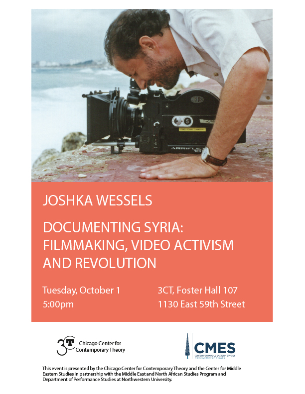 flyer for Joshka Wessels event on Syrian documentary film