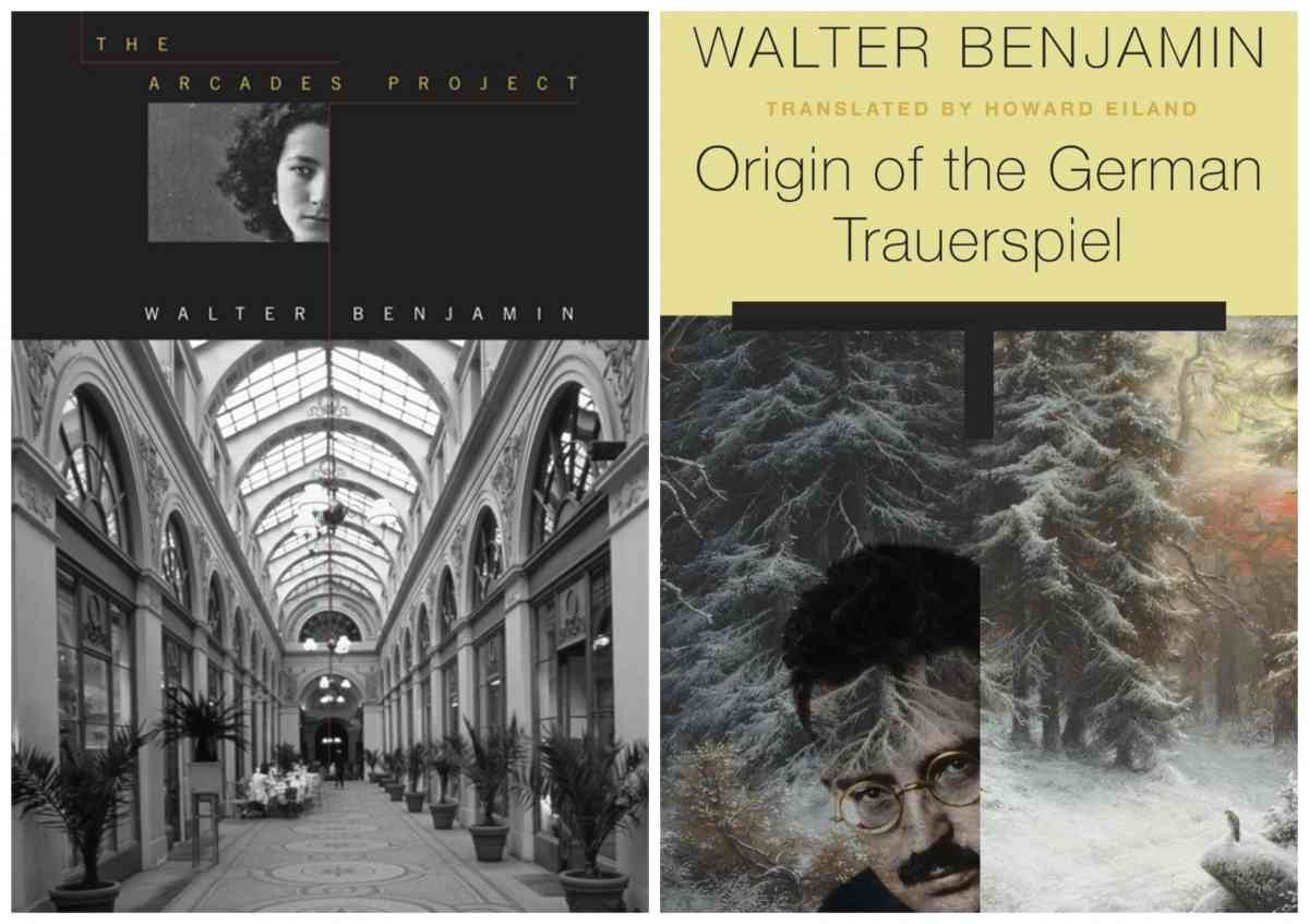 covers of two books by Walter Benjamin
