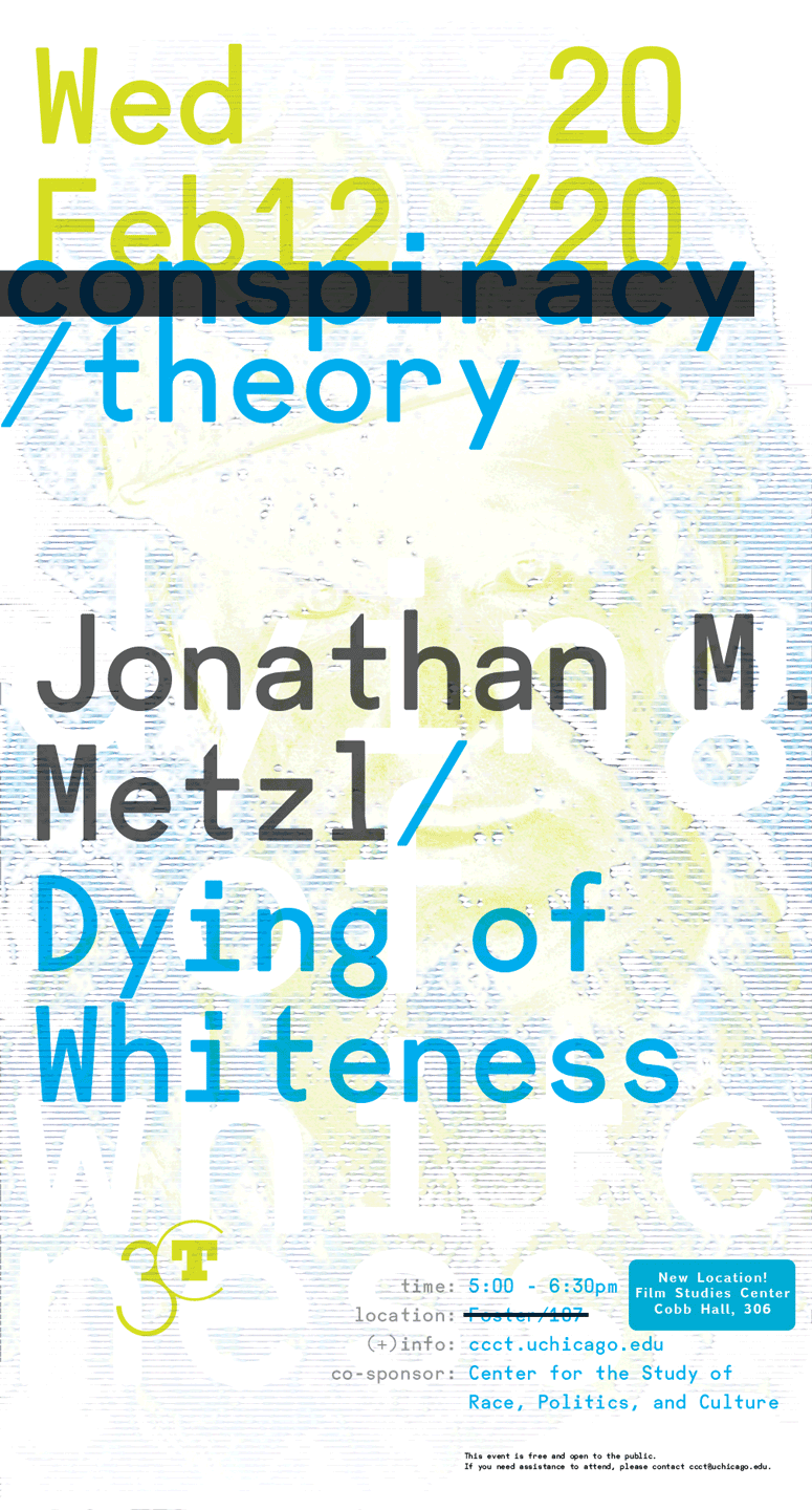 poster for Jonathan M. Metzl: Dying of Whiteness