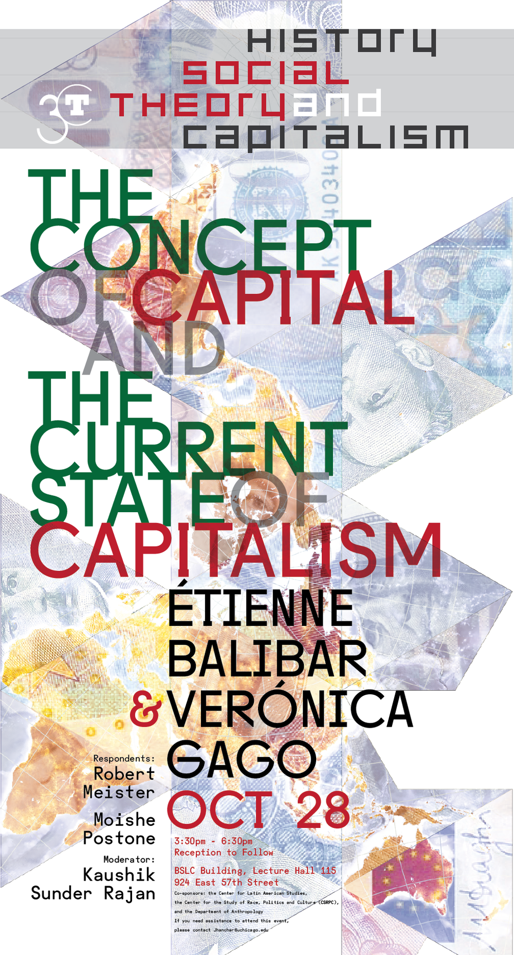 Poster for The Concept of Capital and the Current State of Capitalism Balibar and Gago event