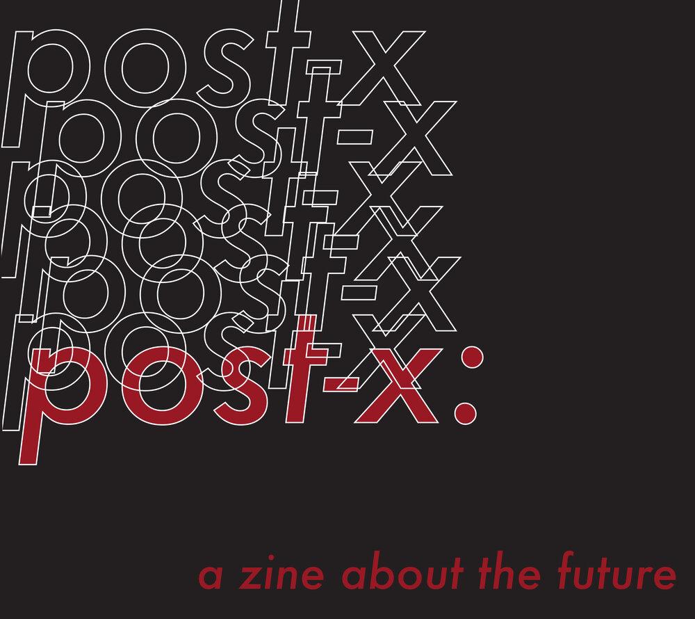 Post-X zine cover
