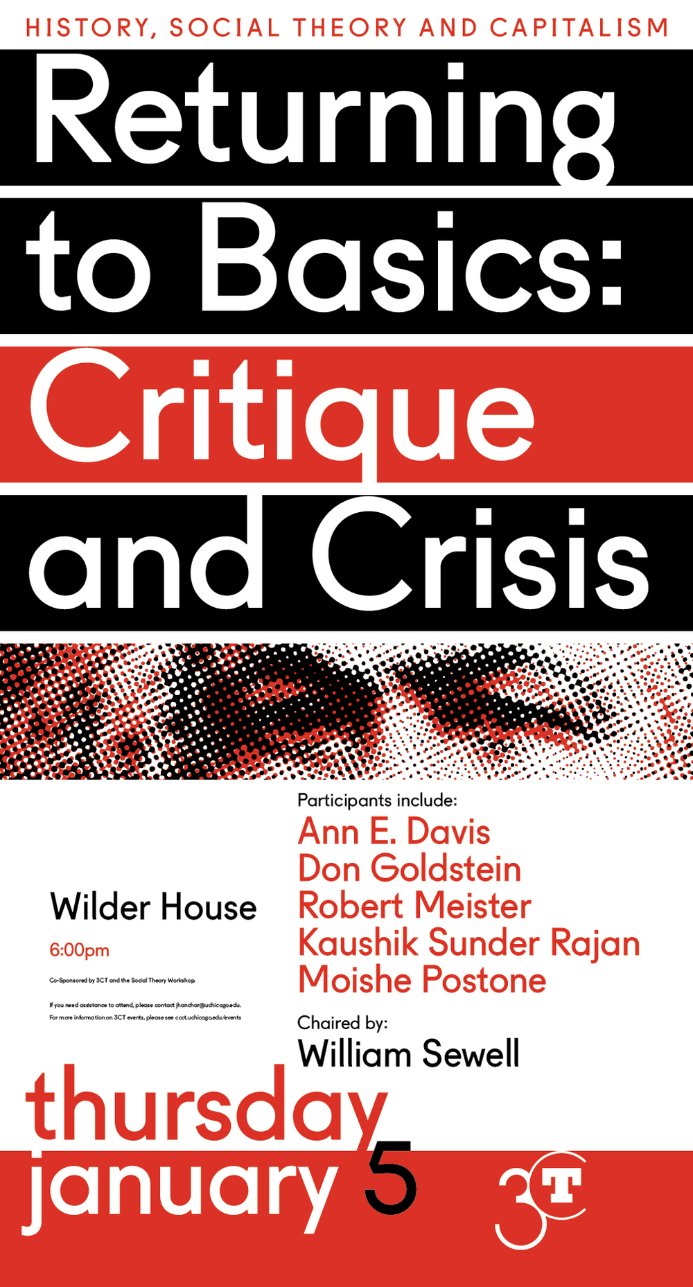 Poster for January 2017 Returning to Basics: Critique and Crisis discussion