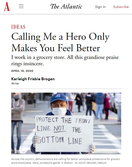 """ESSAY: Karleigh Frisbie Brogan, """"Calling Me a Hero Only Makes You Feel Better"""""""