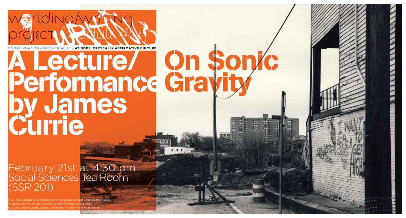 2013 James Currie Sonic Gravity event poster