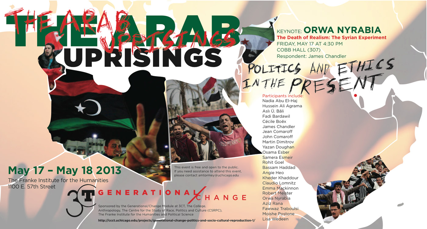 2013 Arab Uprisings coference poster