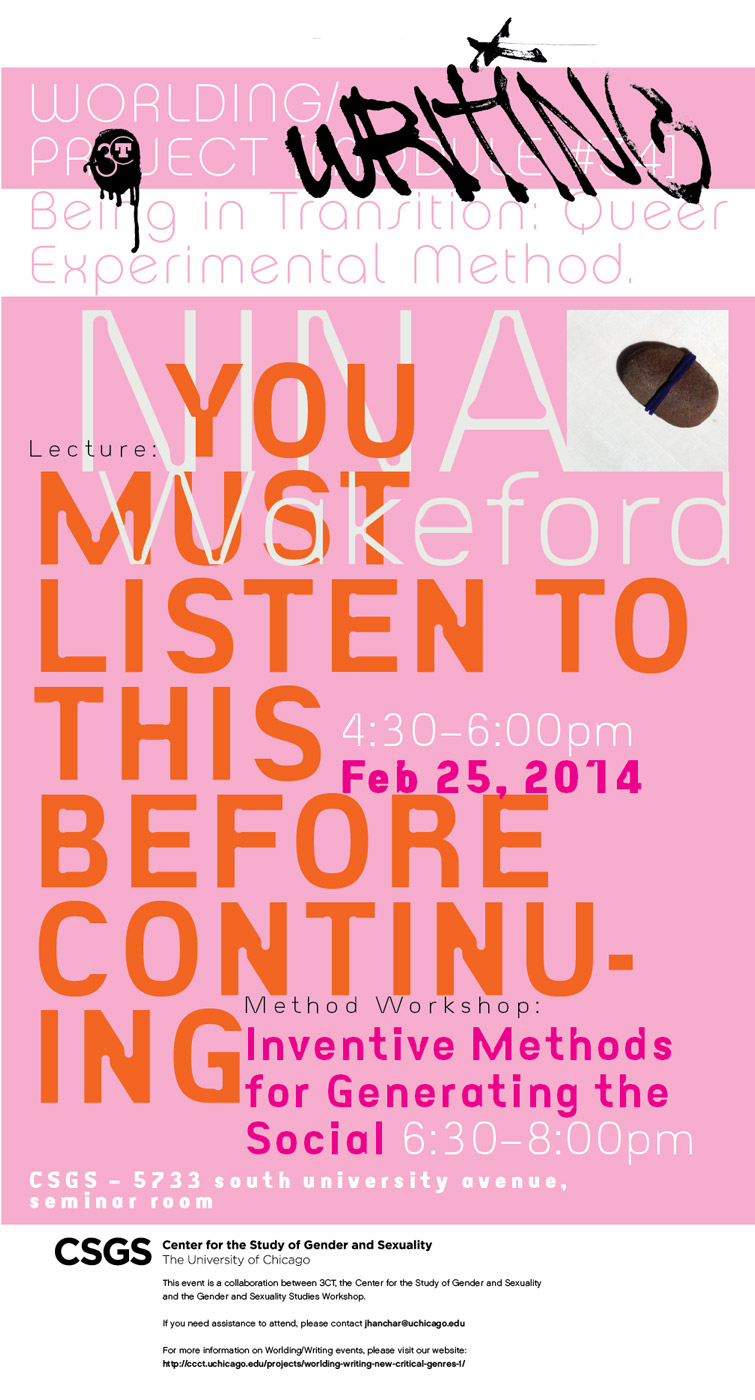 event poster for Nina Wakeford, You Must Listen to this Before Continuing