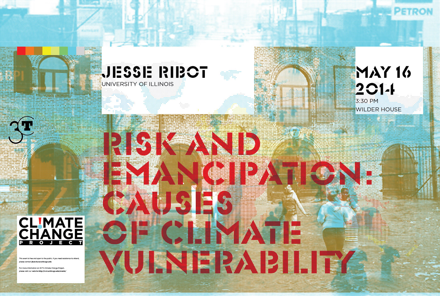 Poster for Jesse Ribot Climate Change event
