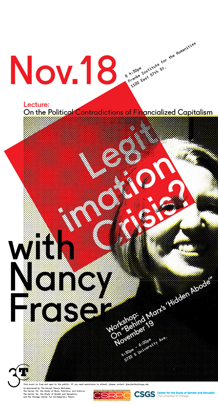 Poster for Nancy Fraser workshop on Legitimation Crisis