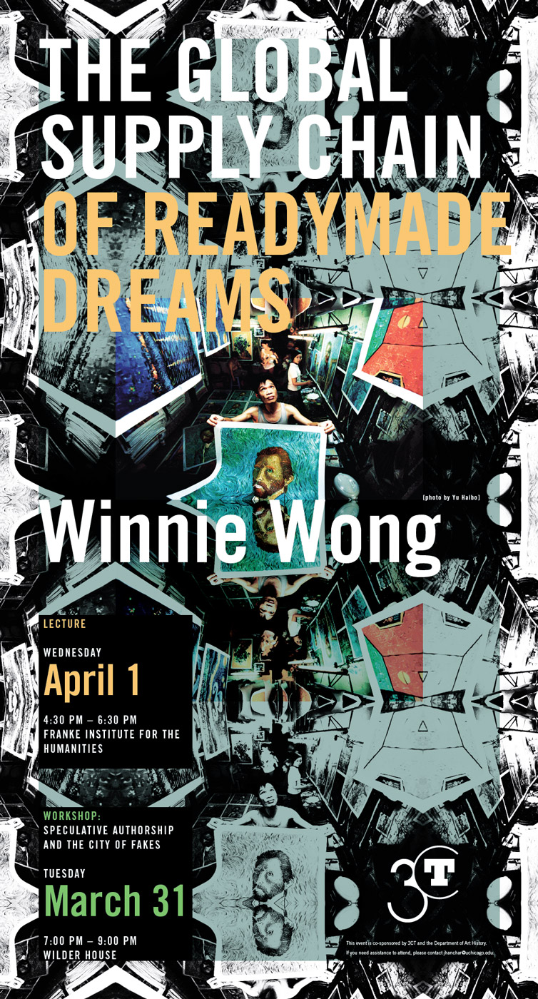 Poster for Winnie Wong, The Global Supply Chain of Readymade Dreams event