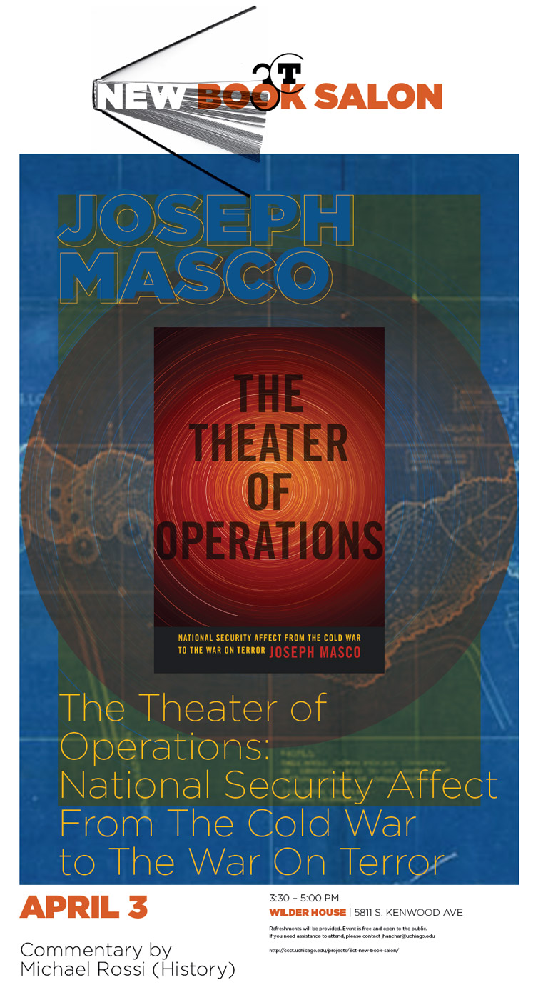 event poster for Joe Masco's The Theater of Operations New Book Salon