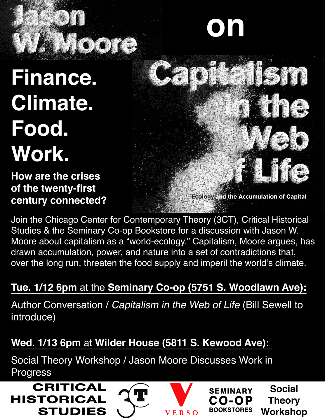 Poster for Jason Moore workshop, Capitalism of nature