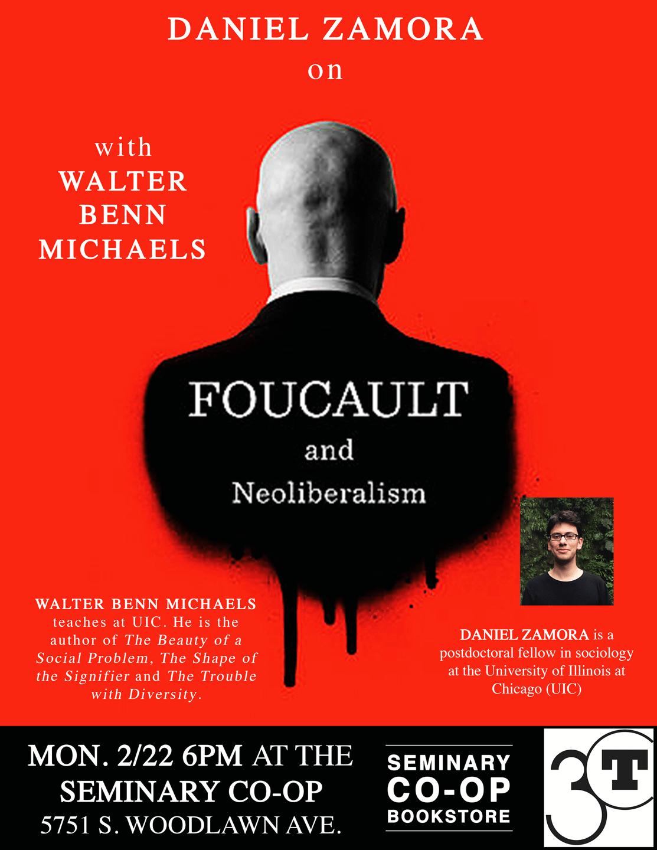 Daniel Zamora New Book Salon poster, Foucault and Neoliberalism