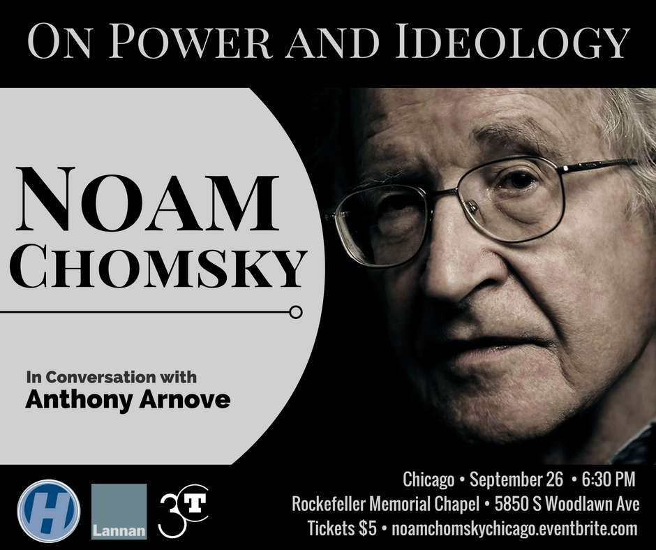 Noam Chomsky - On Power and Ideology event poster