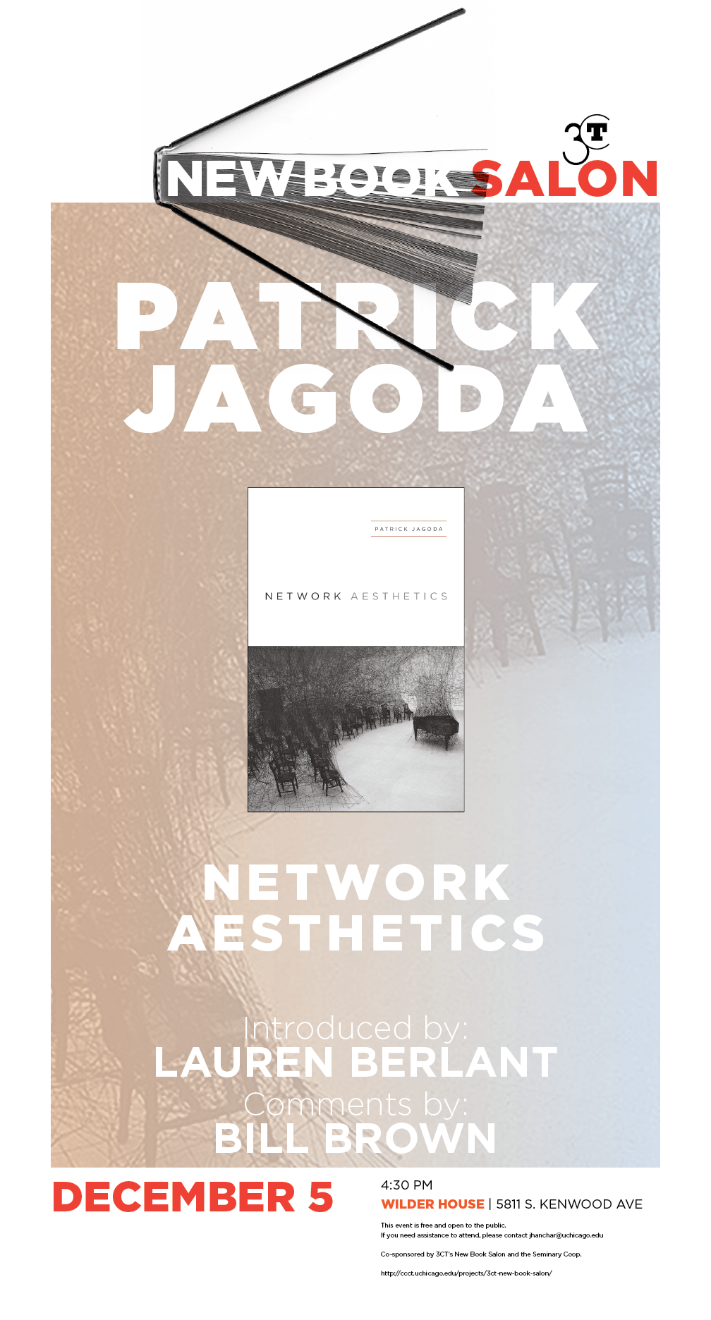 Poster for New book salon: Network Aesthetics by Patrick Jagoda