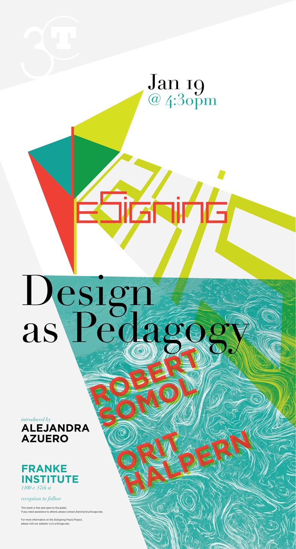 Design as Pedagogy event poster