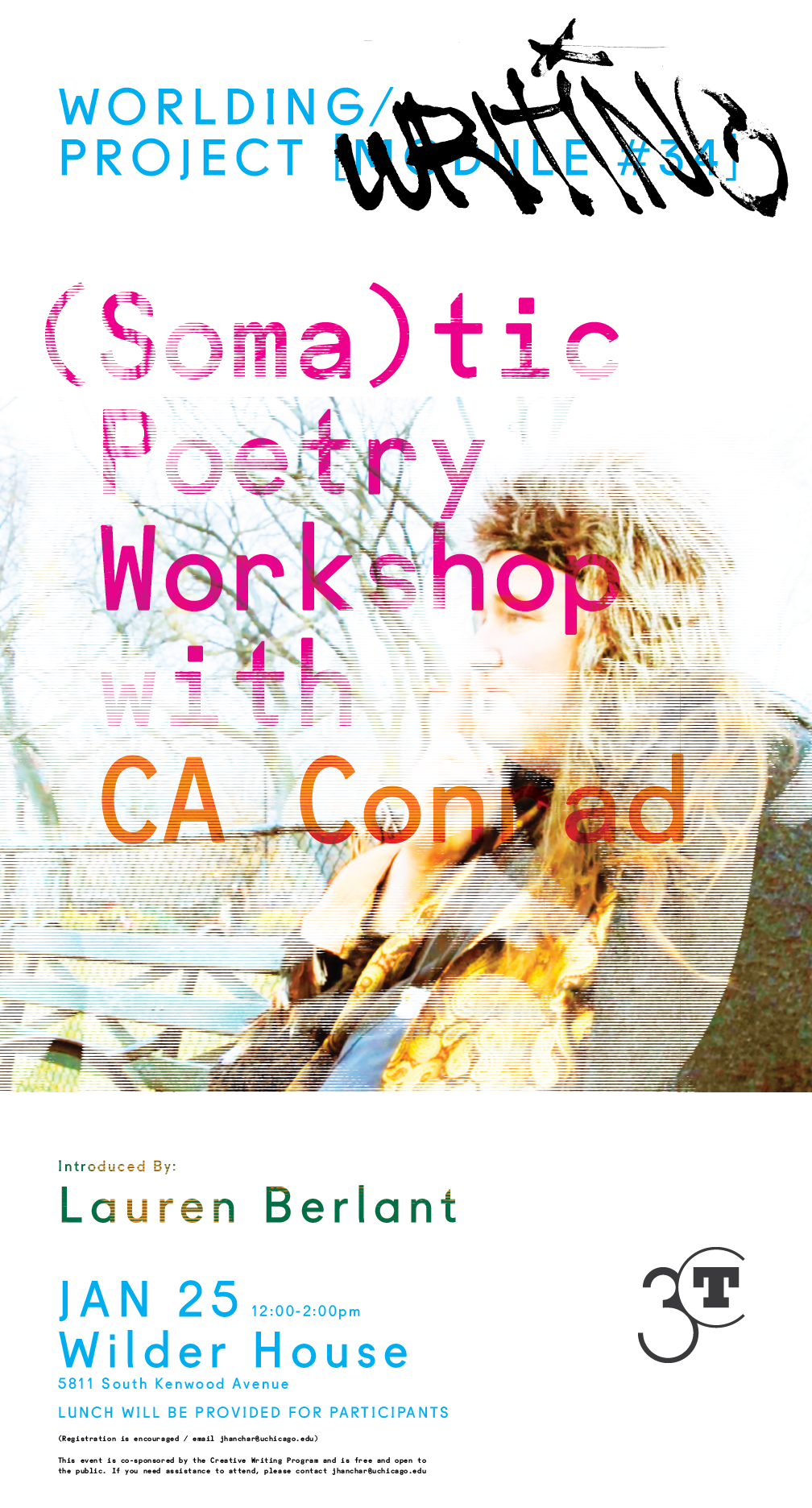 event poster for CA Conrad (Soma)tic Poetry Workshop