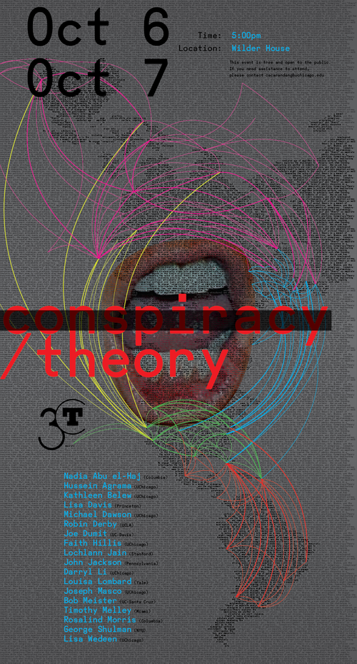 poster for Conspiracy/Theory conference