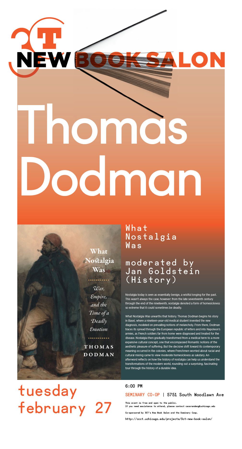 poster for Thomas Dodman's New Book Salon