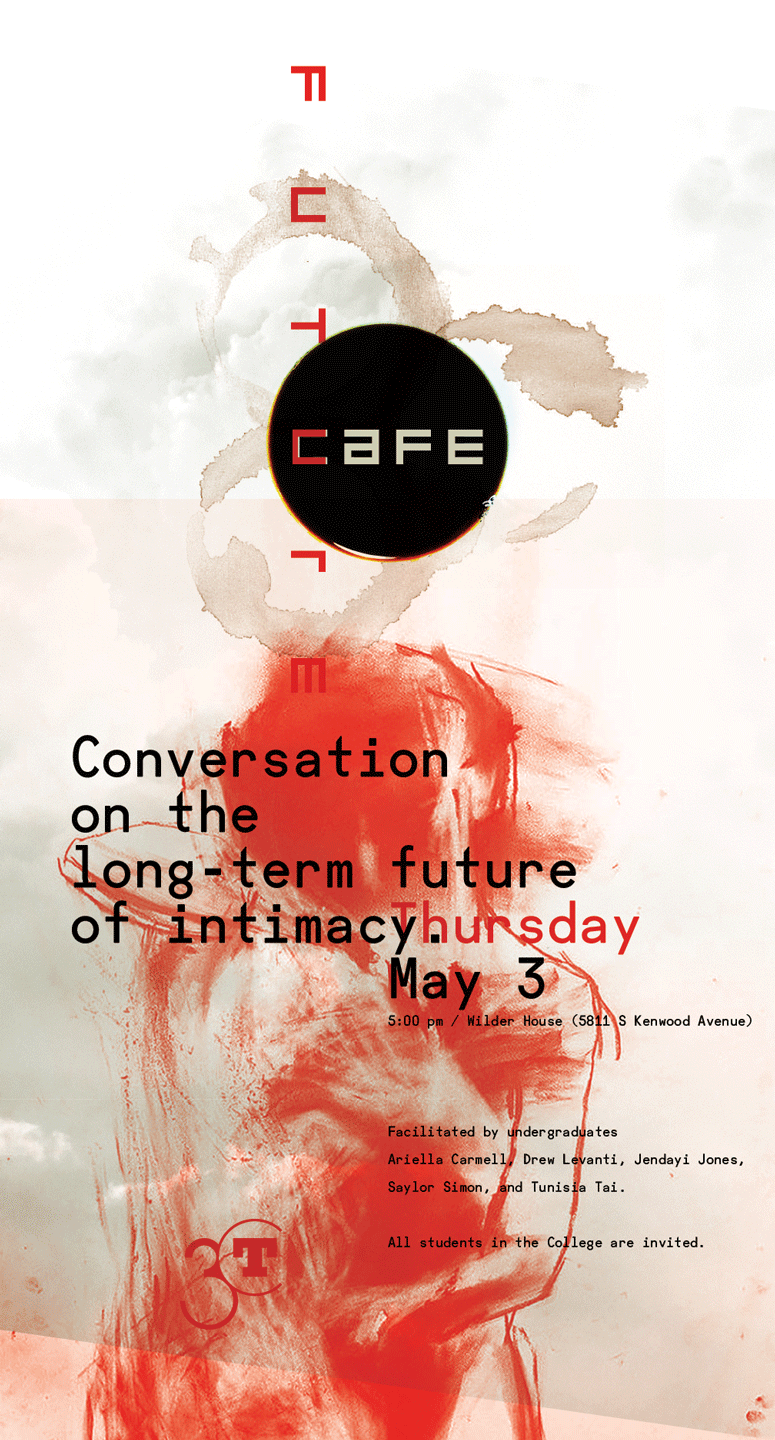 poster for the future cafe on intimacy