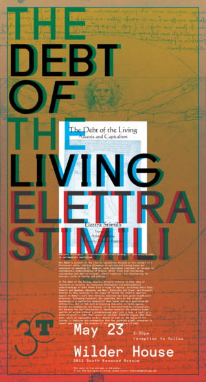 poster for Elettra Stimili: The Debt of the Living at 3CT
