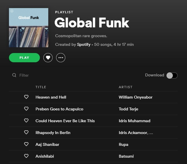 MUSIC: Global Funk Playlist