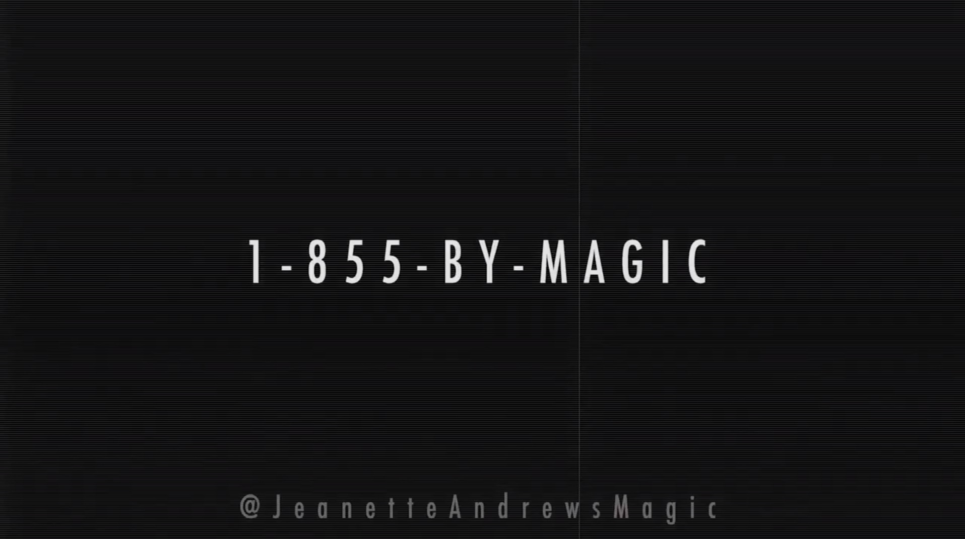PERFORMANCE: Jeanette Andrews, Magic by Telephone