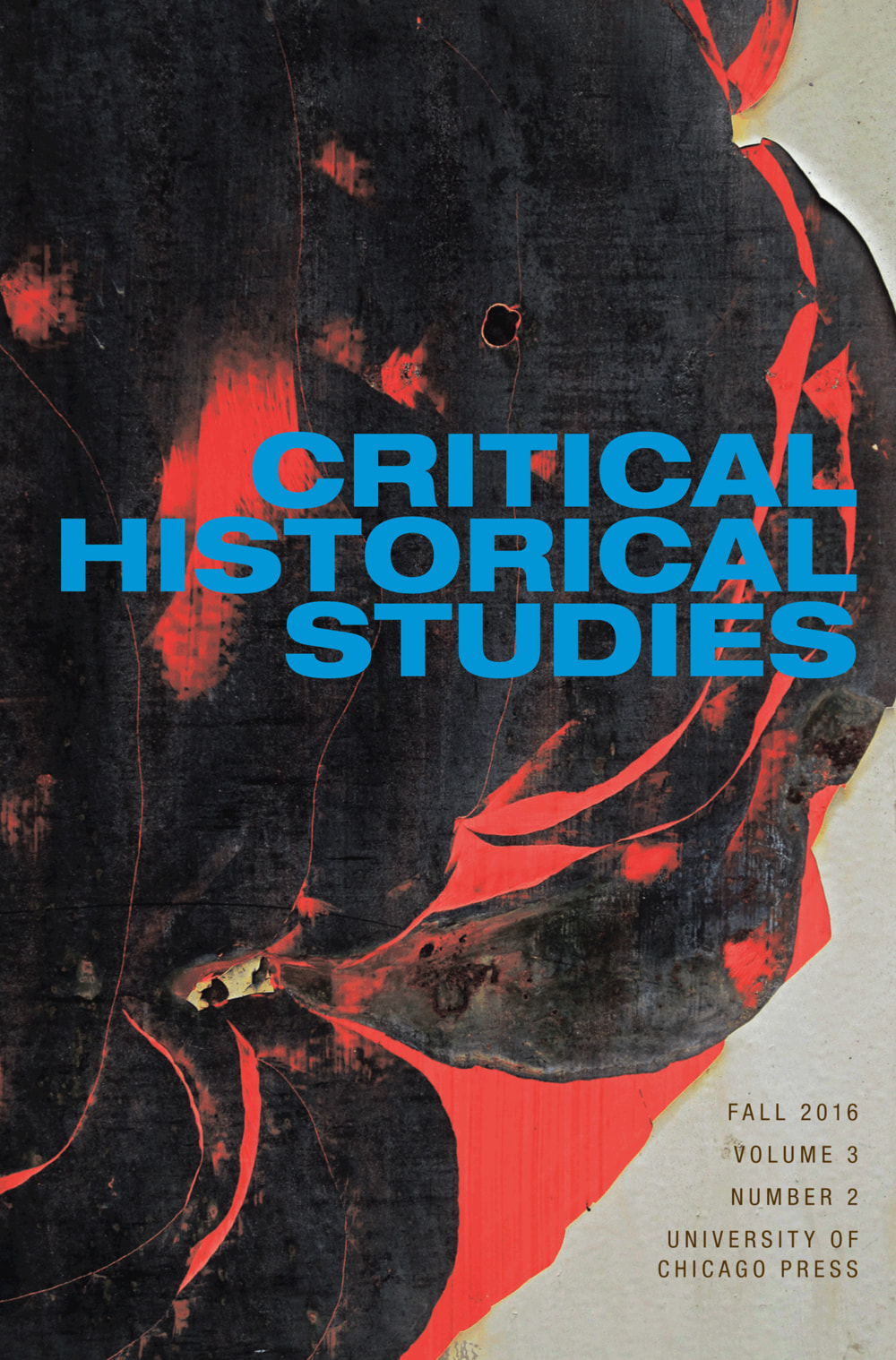 Critical Historical Studies cover, Fall 2016, Volume 3, Number 2