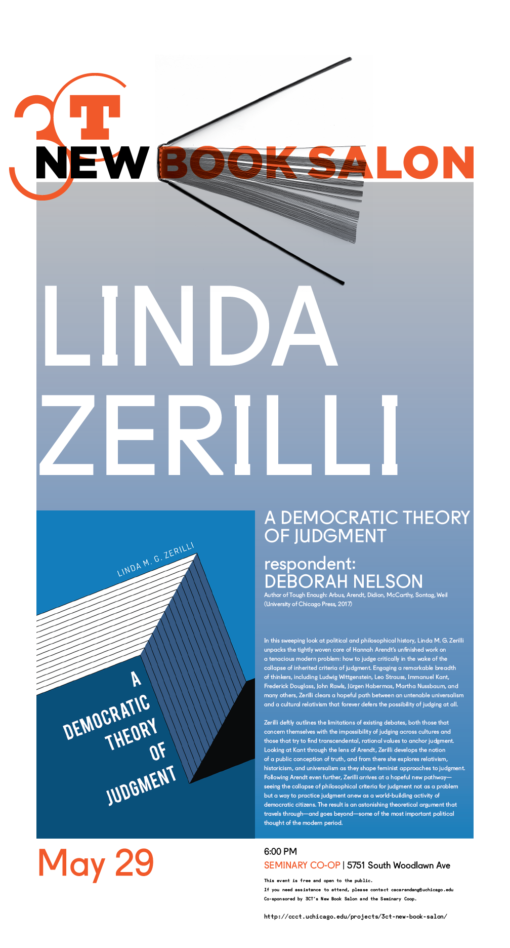 poster for Linda Zerilli's New Book Salon