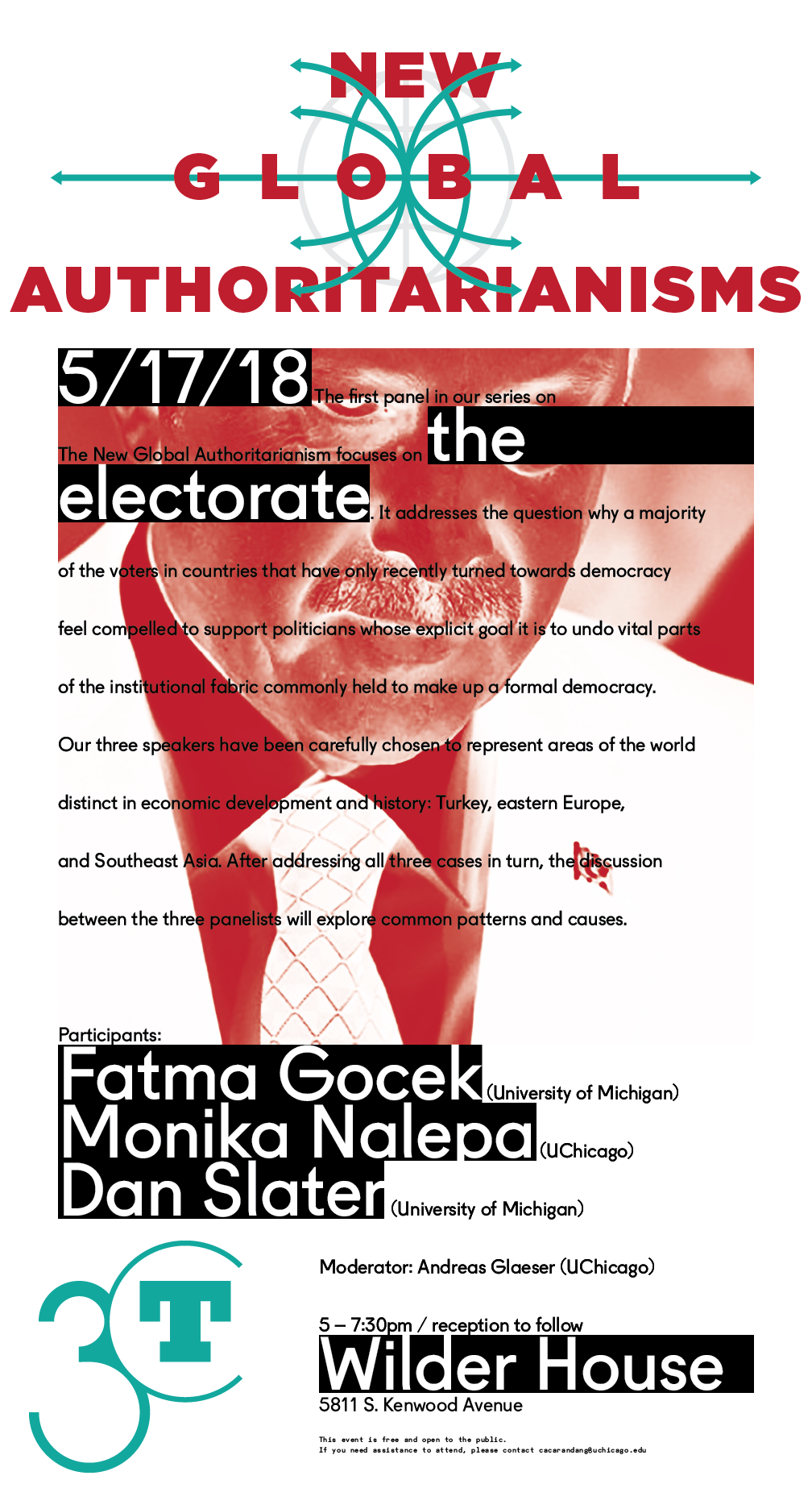 2018 electorate poster, person wearing suit overlaid with text