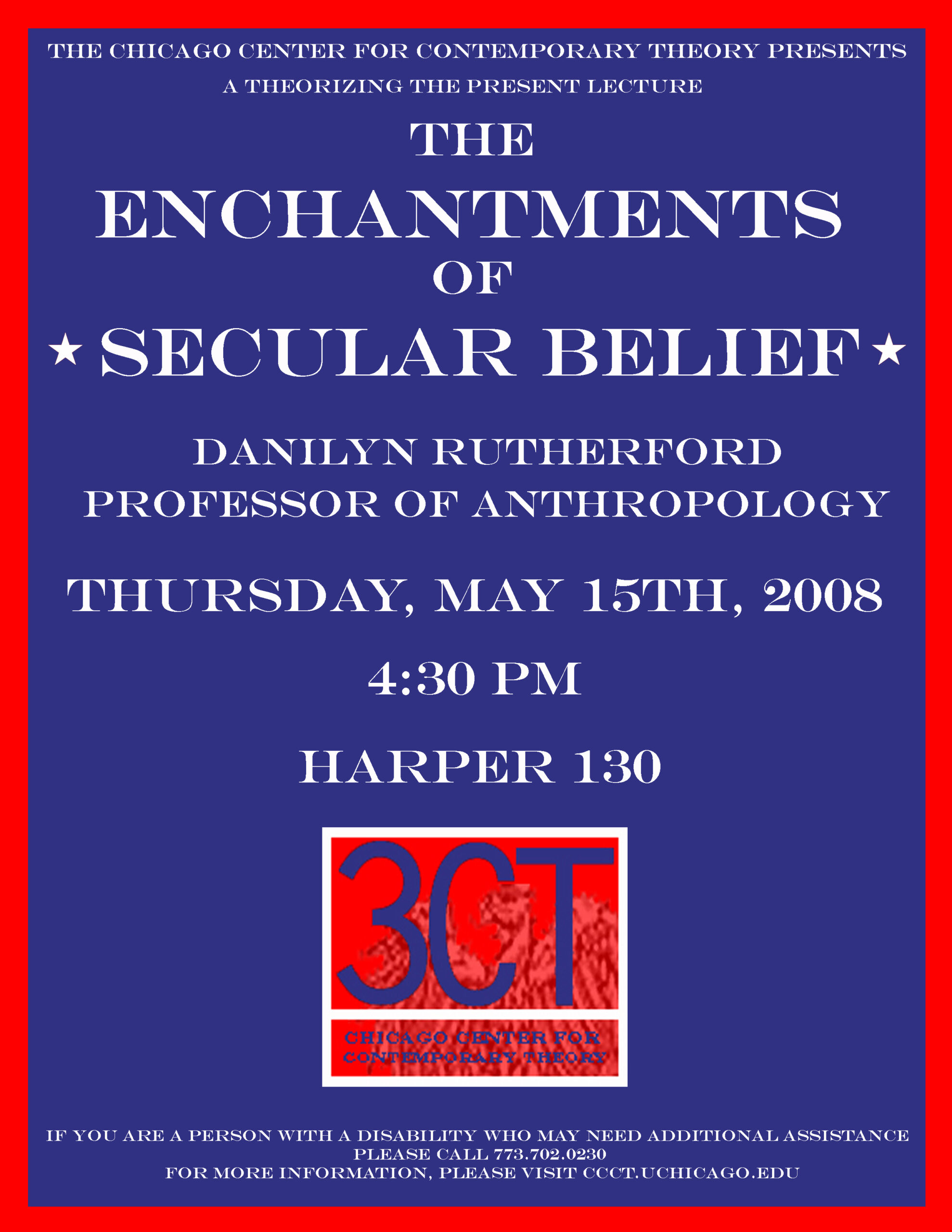 Poster for Danilyn Rutherford's Theorizing the Present lecture,