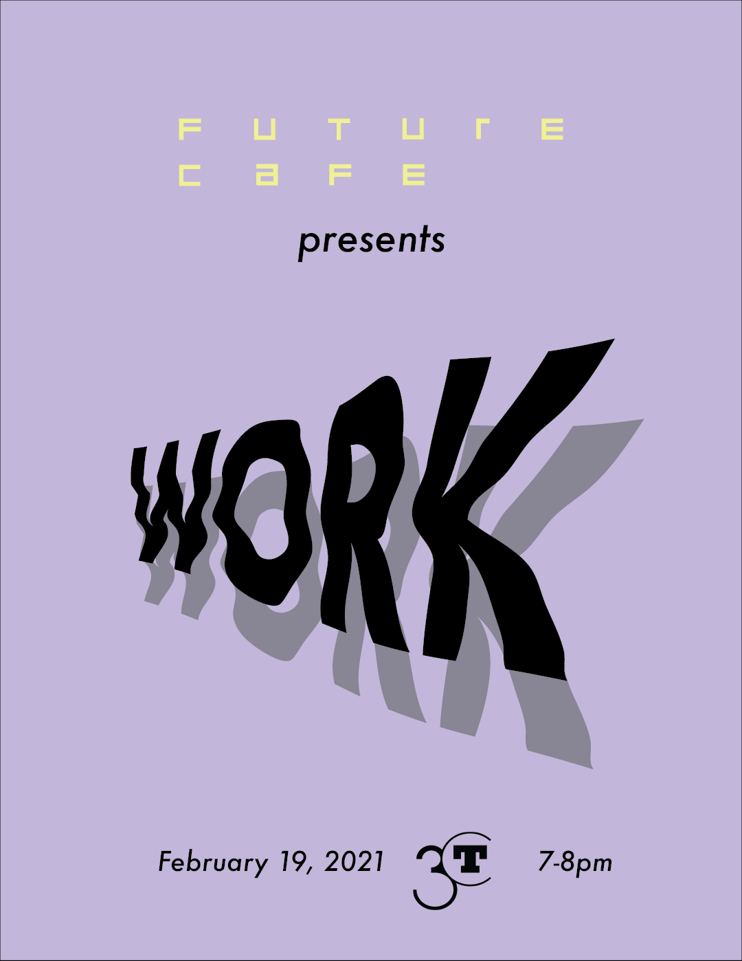 event graphic with lavender background and squiggly black word work