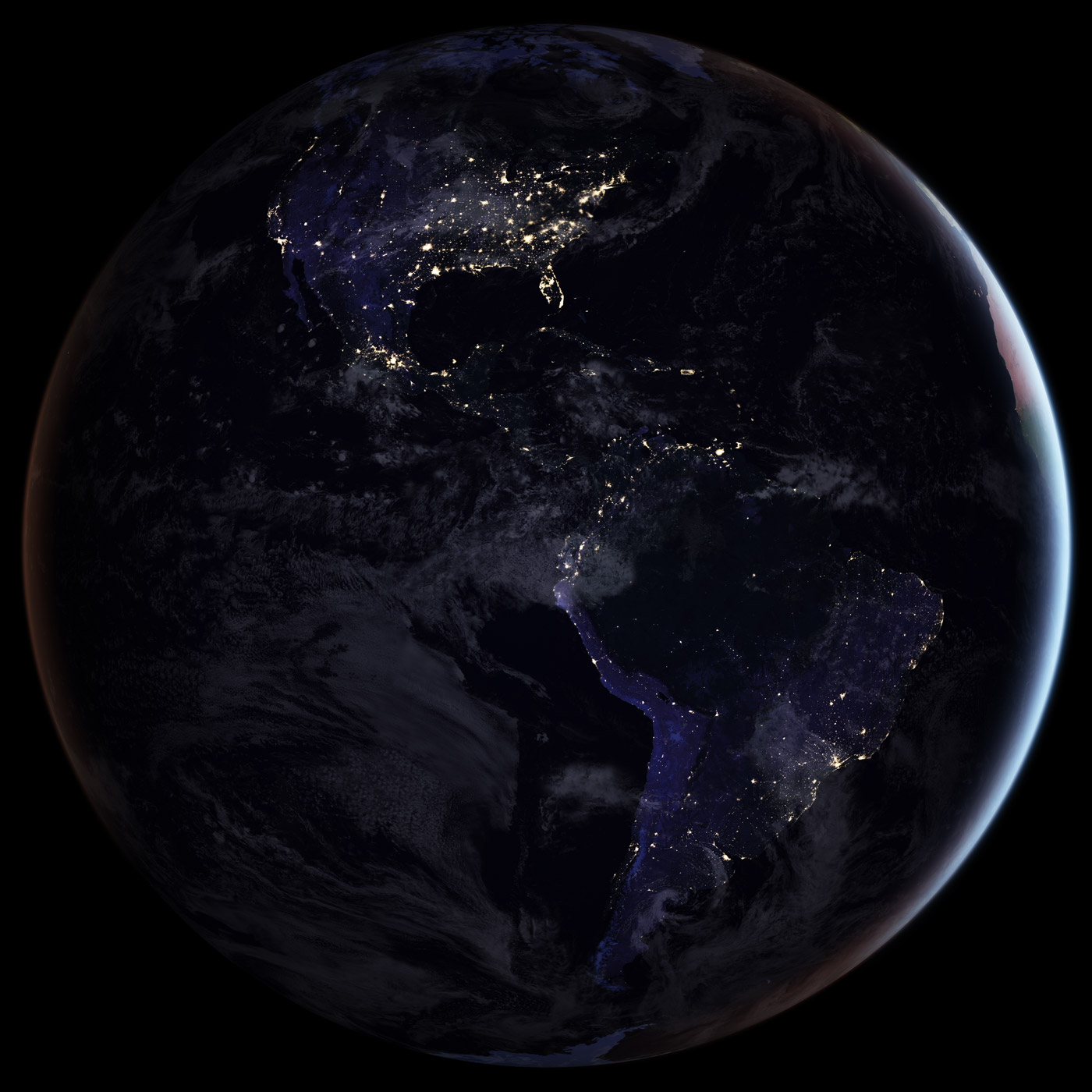 image of Earth's western hemisphere from space