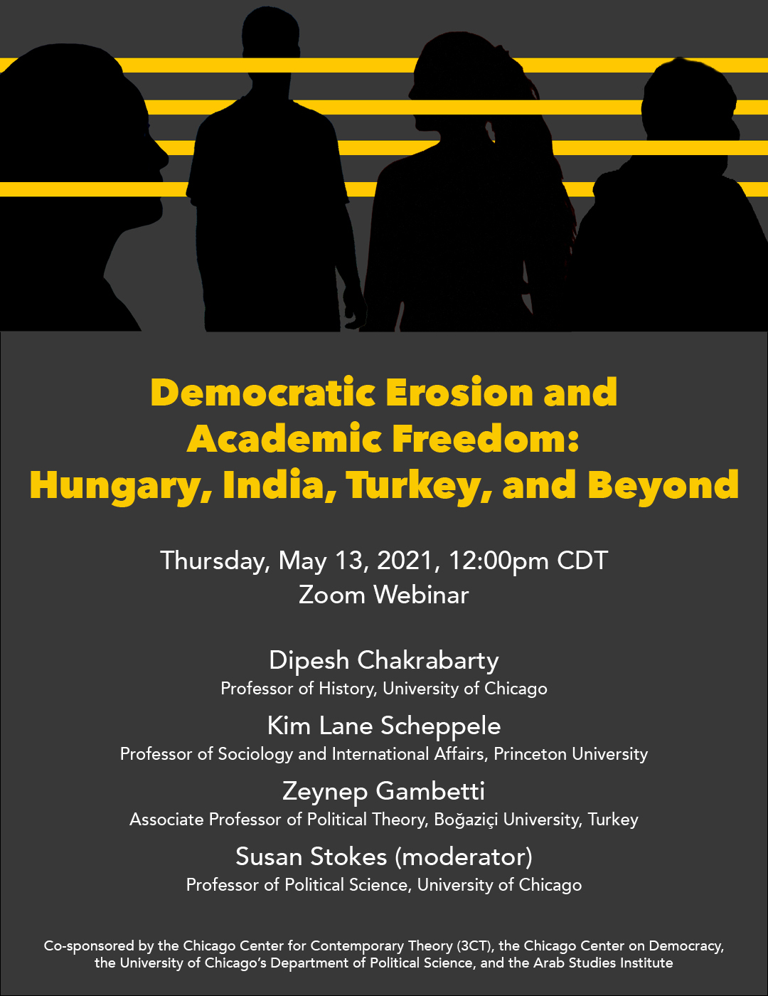 Flyer for Democratic Erosion and Academic Freedom event